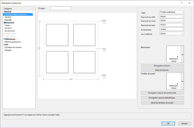 Créer Une Fenêtre De Projet Dans Le Document Actif